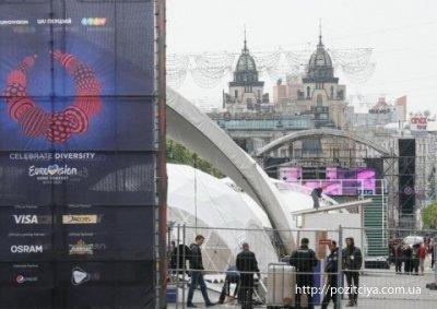 ВКиеве начались торжественные мероприятия послучаю открытия Евровидения